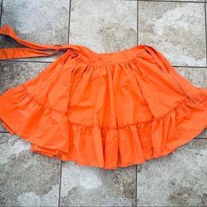 Beautiful orange folklorico skirt